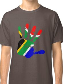 Flag of South Africa Handprint Classic T-Shirt