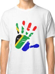 Flag of South Africa Handprint Classic T-Shirt
