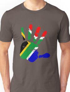 Flag of South Africa Handprint Unisex T-Shirt