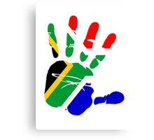 Flag of South Africa Handprint Canvas Print
