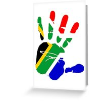 Flag of South Africa Handprint Greeting Card