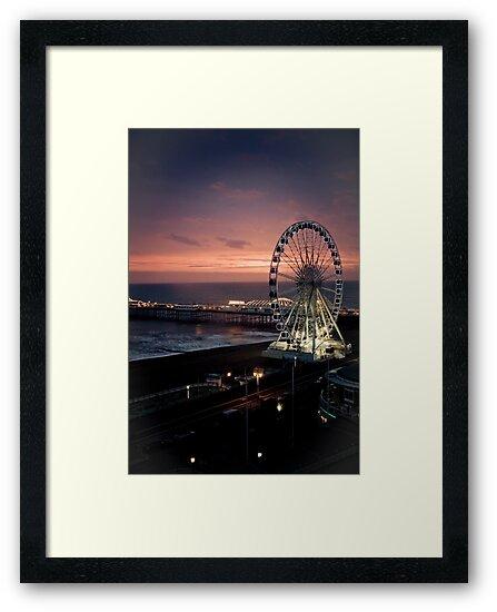 Brighton Nightscape by Erika  Szostak