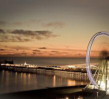 Brighton Nightscape II by Erika  Szostak