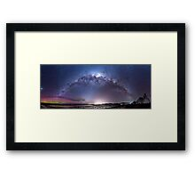 Aurora Australis and Milky Way Framed Print