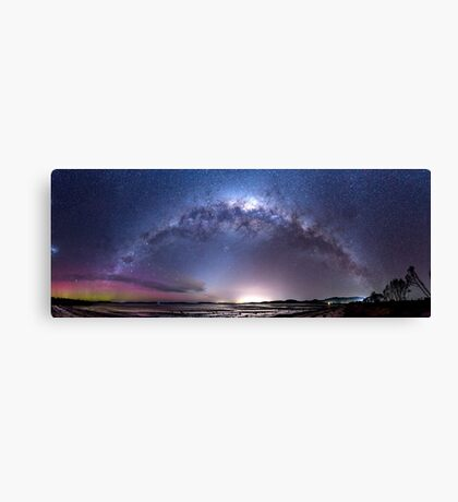 Aurora Australis and Milky Way Canvas Print
