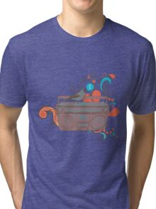 Retro Music Tri-blend T-Shirt