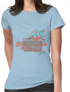 Retro Music Womens Fitted T-Shirt