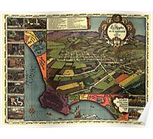 Panoramic Maps Los Angeles as it appeared in 1871 Poster