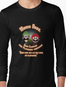 Mario Bros. Drain Cleaning & Plumbing Service Long Sleeve T-Shirt