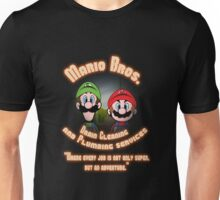 Mario Bros. Drain Cleaning & Plumbing Service Unisex T-Shirt