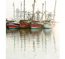 Cape May fishing fleet at Sunrise by Frank Nave
