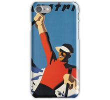 Vintage poster - Skiing Austria iPhone Case/Skin