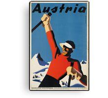 Vintage poster - Skiing Austria Canvas Print