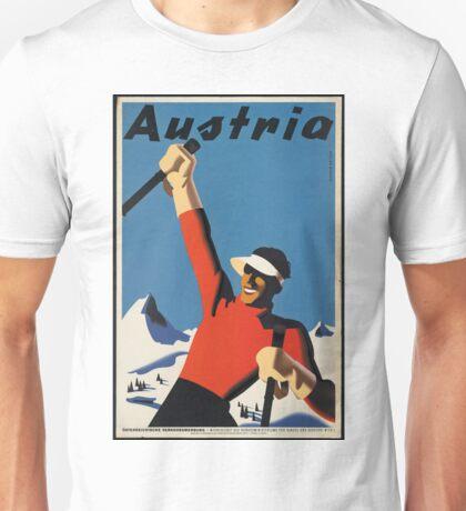 Vintage poster - Skiing Austria Unisex T-Shirt