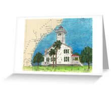 Haig Pt Lighthouse SC Nautical Chart Cathy Peek Greeting Card