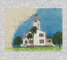 Haig Pt Lighthouse SC Nautical Chart Cathy Peek One Piece - Long Sleeve
