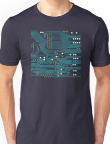 Dark Circuit Board Unisex T-Shirt
