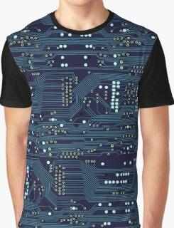 Dark Circuit Board Graphic T-Shirt
