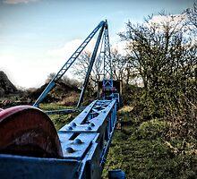 The Big Blue Crane by christof1395