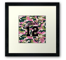 Girls' Generation (SNSD) SUNNY 'PINK ARMY' Framed Print