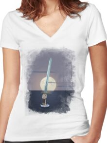 Excalibur - Lady of the Lake Women's Fitted V-Neck T-Shirt