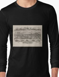Panoramic Maps Wernersville Pennsylvania Long Sleeve T-Shirt