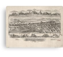 Panoramic Maps Wernersville Pennsylvania Canvas Print