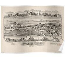 Panoramic Maps Wernersville Pennsylvania Poster