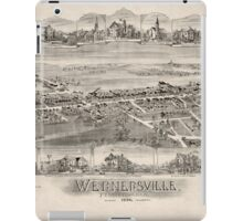 Panoramic Maps Wernersville Pennsylvania iPad Case/Skin