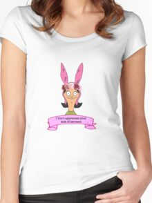 Louise Belcher Bobs Burgers Flower Crown Quote Women's Fitted Scoop T-Shirt