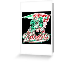 PATRIOT BLACK Greeting Card