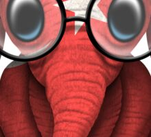 Baby Elephant with Glasses and Turkish Flag Sticker