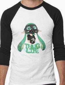 Kid AND a Squid -Teal- Men's Baseball ¾ T-Shirt