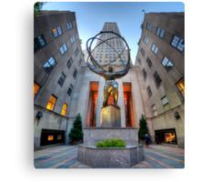 Rockefeller Centre Atlas - NYC - Vertorama Canvas Print