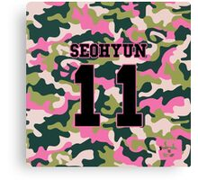 Girls' Generation (SNSD) SEOHYUN 'PINK ARMY' Canvas Print