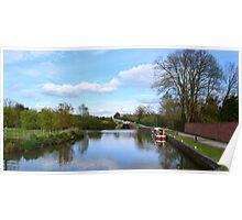 Caen Hill Locks, Kennet & Avon Canal Poster