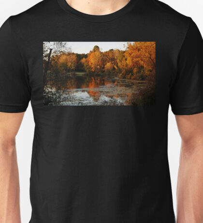 Fall Trees Lake Landscape Unisex T-Shirt