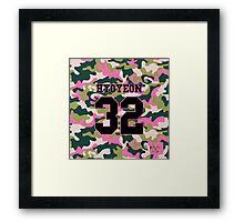 Girls' Generation (SNSD) HYOYEON 'PINK ARMY' Framed Print