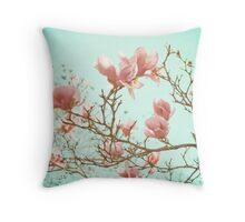 Japanese Magnolias Throw Pillow