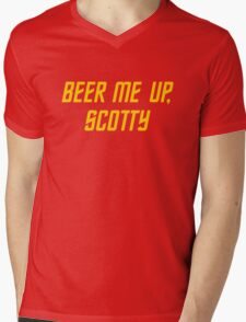 Beer me up, Scotty Mens V-Neck T-Shirt