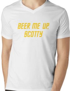 Beer me up, Scotty Mens V-Neck T-Shirt