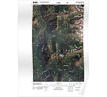 USGS Topo Map Washington State WA Skagit Peak 20110427 TM Poster