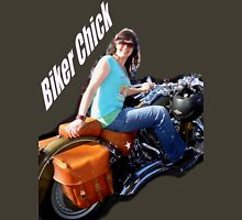 Biker Chick Womens Fitted T-Shirt