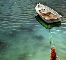 Moored at Low Tide by Christine Smith