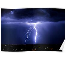 Lightning strikes in Canberra Poster