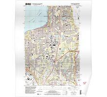 USGS Topo Map Washington State WA Poverty Bay 243270 1997 24000 Poster