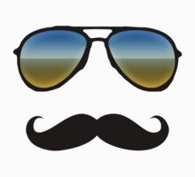 Aviator Sunglasses and Handlebar Mustache Kids Clothes