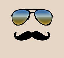 Aviator Sunglasses and Handlebar Mustache Unisex T-Shirt
