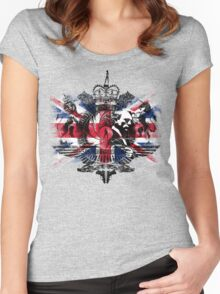 50th Anniversary Secret Agent Tee_Union Jack Women's Fitted Scoop T-Shirt