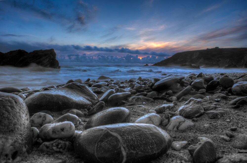 Pebble Beach sunset by Andrew Driver